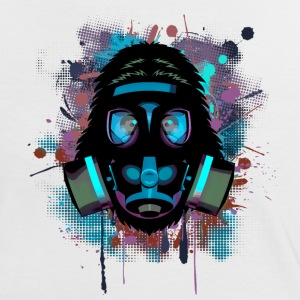 Urban Monkey with Gas mask Fallout T-Shirts - Women's Ringer T-Shirt