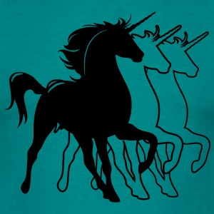 Unicorns silhouette art T-Shirts - Men's T-Shirt