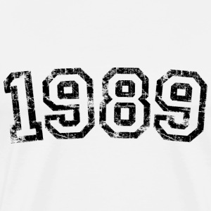 Year 1989 Birthday Design Vintage Anniversary T-Shirts - Men's Premium T-Shirt