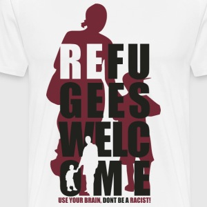 REFUGEES WELCOME - Männer Premium T-Shirt