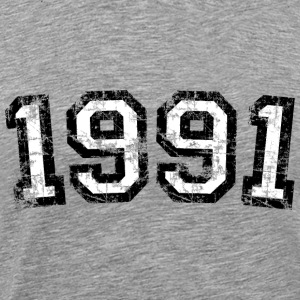 Year 1991 Birthday Design Vintage Anniversary T-Shirts - Men's Premium T-Shirt