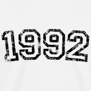 Year 1992 Birthday Design Vintage Anniversary T-Shirts - Men's Premium T-Shirt