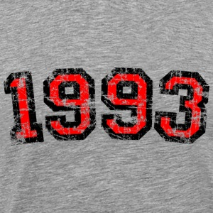 Year 1993 Birthday Design Vintage Anniversary T-Shirts - Men's Premium T-Shirt
