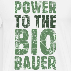 Power to the Biobauer T-Shirt (Herren/Weiß) - Männer Premium T-Shirt