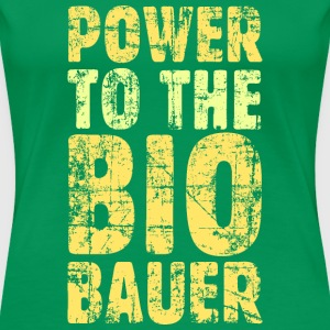 Power to the Biobauer T-Shirt (Damen/Grün) - Frauen Premium T-Shirt