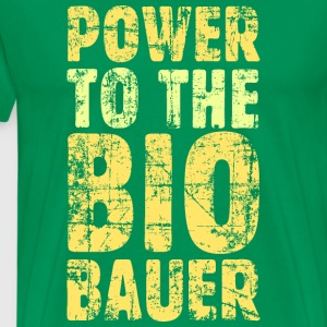 Power to the Biobauer T-Shirt (Herren/Grün) - Männer Premium T-Shirt