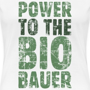 Power to the Biobauer T-Shirt (Damen/Weiß) - Frauen Premium T-Shirt