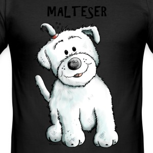 Melia der Malteser T-Shirts - Männer Slim Fit T-Shirt