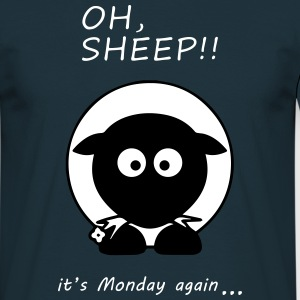 Oh Sheep! Its monday again - Mannen T-shirt