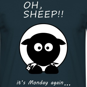 Oh Sheep! Its monday again - Männer T-Shirt