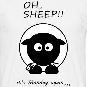 Oh Sheep! Its monday again - T-shirt Homme
