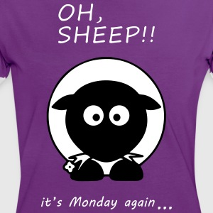 Oh Sheep! Its monday again - Frauen Kontrast-T-Shirt