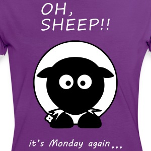 Oh Sheep! Its monday again - Women's Ringer T-Shirt