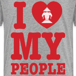 I Heart (Love) Erawan My Lao People Shirts - Teenage Premium T-Shirt