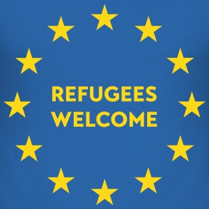 Refugees welcome in EU T-Shirts - Men's Slim Fit T-Shirt