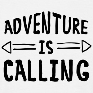 Adventure Is Calling T-shirts - Mannen T-shirt
