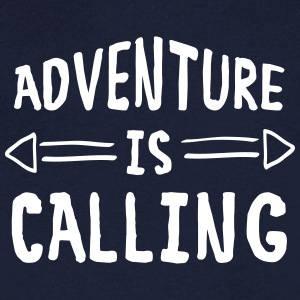 Adventure Is Calling T-Shirts - Men's V-Neck T-Shirt