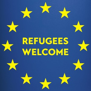Refugees welcome in EU Mugs & Drinkware - Full Colour Mug