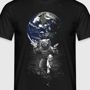 Sort Spaceman T-shirts - Herre-T-shirt