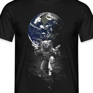 Black Spaceman T-Shirts - Men's T-Shirt