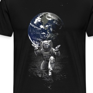 Black Spaceman T-Shirts - Men's Premium T-Shirt