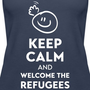 Keep calm and welcome the Refugees Débardeurs - Débardeur Premium Femme