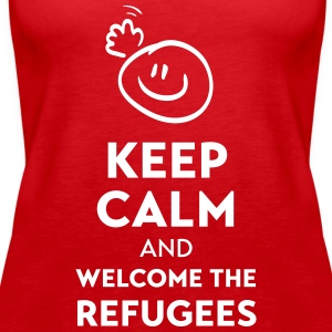 Keep calm and welcome the Refugees Toppar - Premiumtanktopp dam