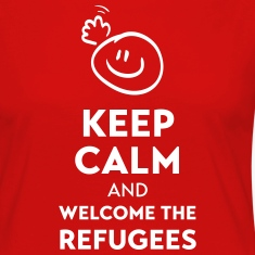 Keep calm and welcome the Refugees Long Sleeve Shirts