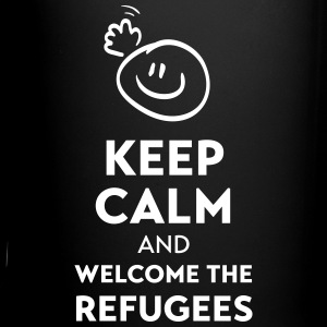 Keep calm and welcome the Refugees Muggar & tillbehör - Enfärgad mugg