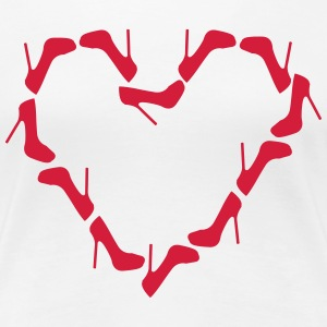 High Heels Heart T-Shirts - Women's Premium T-Shirt