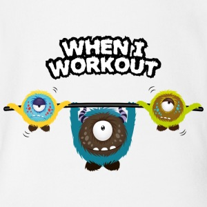 When I workout Monster Magliette - Body per neonato