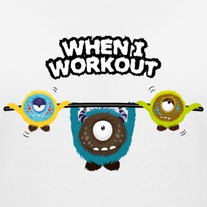 When I workout Monster T-shirts - T-shirt med v-ringning dam