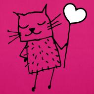Motiv ~ Katze Love Liebe Tasche pink