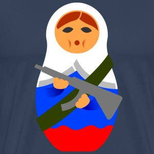 Matryoshka with machine gun T-Shirts - Men's Premium T-Shirt