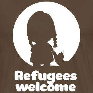 Refugees welcome Tee shirts - T-shirt Premium Homme
