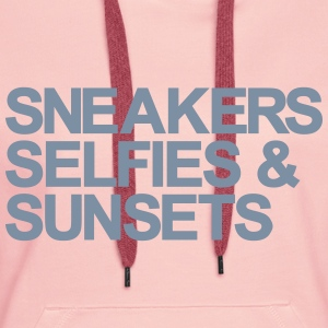 Sneakers Selfies Sunsets Sweat-shirts - Sweat-shirt à capuche Premium pour femmes