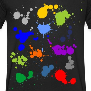 Colorful splashes of color T-Shirts - Men's V-Neck T-Shirt