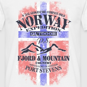 Norway Mountains - Vintage Flag T-Shirts - Men's T-Shirt