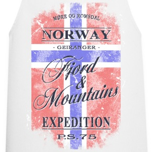 Norway Geiranger Fjord - Vintage Flag  Aprons - Cooking Apron