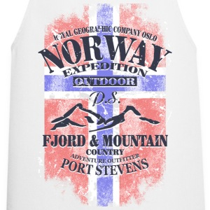 Norway Mountains - Vintage Flag  Aprons - Cooking Apron