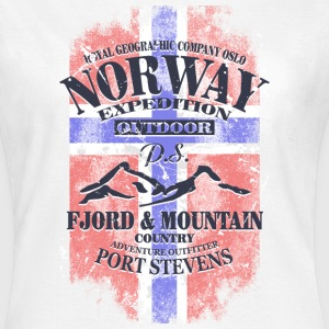 Norway Mountains - Vintage Flag T-Shirts - Women's T-Shirt