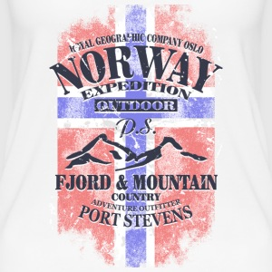 Norway Mountains - Vintage Flag Tops - Frauen Bio Tank Top