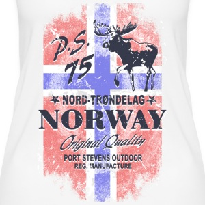 Norway Moose - Vintage Flag Tops - Women's Organic Tank Top