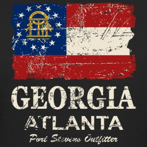 Georgia Flag - Vintage Look T-Shirts - Frauen Bio-T-Shirt