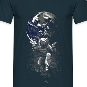 Navy Spaceman T-Shirts - Men's T-Shirt