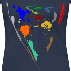 Colorful splashes - Triangle T-Shirts - Women's Premium T-Shirt