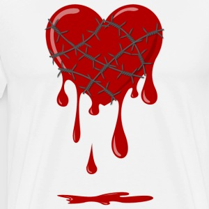 Bleeding Heart Barbed Wire Tee shirts - T-shirt Premium Homme