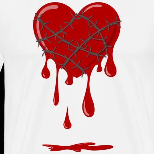 blutendes Herz Stacheldraht