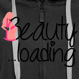Beauty loading vector Pullover & Hoodies - Frauen Premium Kapuzenjacke
