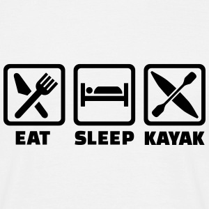 Eat sleep kayak T-Shirts - Männer T-Shirt